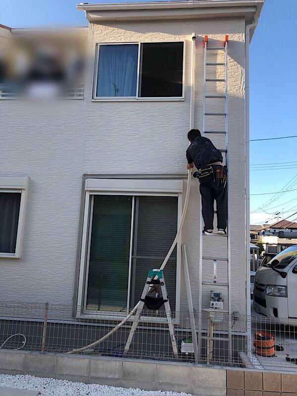 橿原市で新築エアコン3台取り付け工事