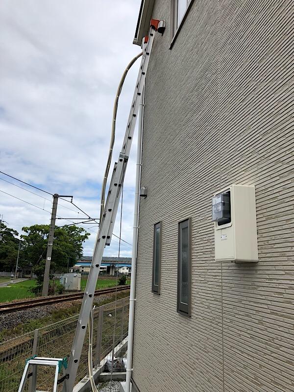 大和高田市で新築にエアコン3台取り付け 前編