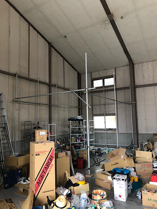 倉庫2階建築 パート3